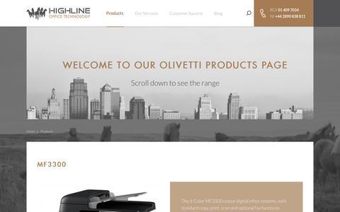 Screenshot of Products Page highline.ie - Highline - captured Nov. 9, 2016