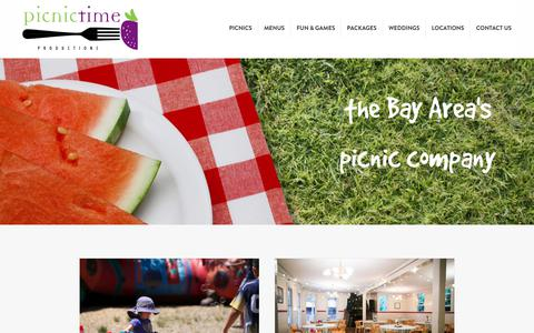 Screenshot of Home Page picnictimeproductions.com - Home - Picnic Time Productions - captured July 18, 2018