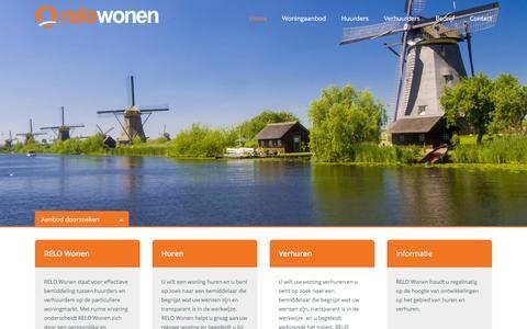 Screenshot of Home Page relowonen.nl - Relo Wonen - captured Jan. 11, 2016
