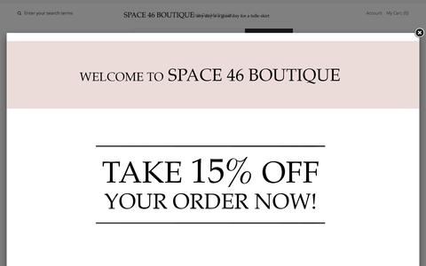 Screenshot of Contact Page space46boutique.com - Contact Us – Space 46 - captured July 9, 2017