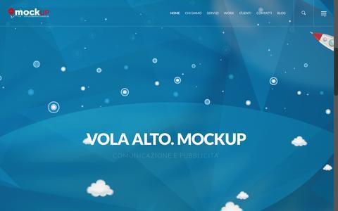 Screenshot of Home Page mockup-adv.it - Mockup |agenzia di comunicazione e pubblicità.Bronte|Catania - captured Feb. 28, 2016