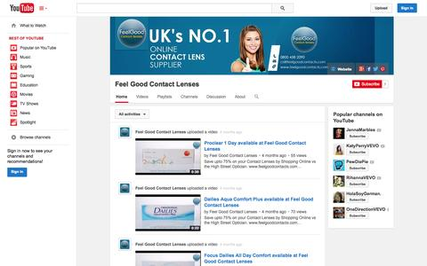 Screenshot of YouTube Page youtube.com - Feel Good Contact Lenses  - YouTube - captured Nov. 1, 2014