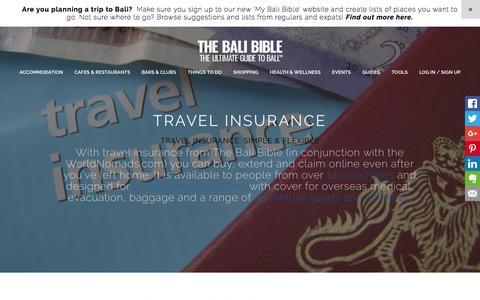 TRAVEL INSURANCE - The Bali Bible