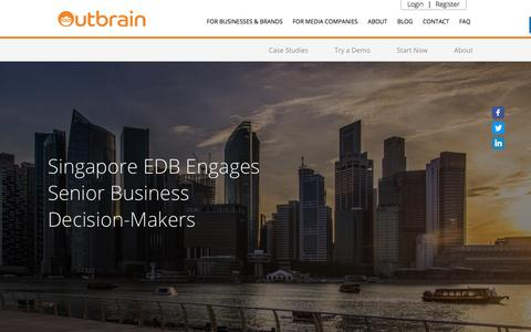 Screenshot of Case Studies Page outbrain.com - EDBs Case Study: Engage Senior Business Decision-Makers | Outbrain - captured April 19, 2018