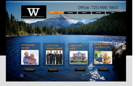 Screenshot of Home Page westerninsurancenetwork.com - Western Insurance Network - captured Oct. 7, 2014