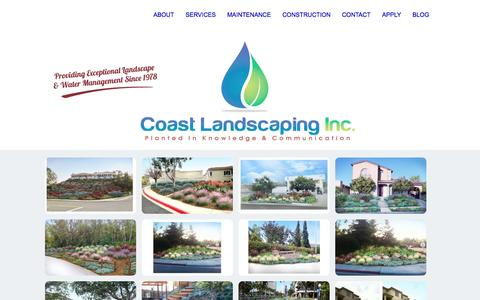Screenshot of Home Page Privacy Page coastlandscaping.com - Coast Landscaping inc. - captured Oct. 3, 2014