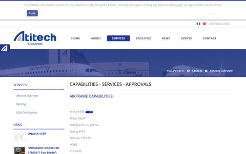 Screenshot of Services Page atitech.it - Services Overview - captured Oct. 4, 2018