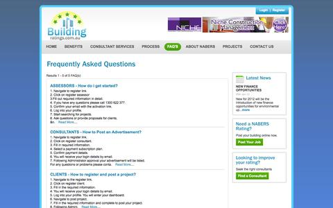 Screenshot of FAQ Page buildingratings.com.au - CBD | Nabers Rating | Nabers Ratings | Building Rating | Building Ratings - captured Oct. 5, 2014