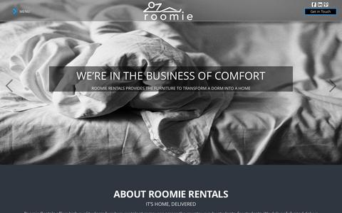 Screenshot of Home Page Team Page roomierentals.com - It's Home, Delivered. - captured Sept. 30, 2014