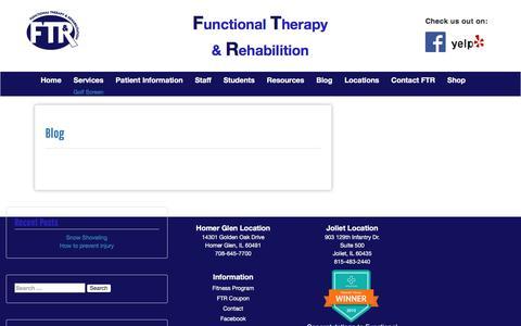 Screenshot of Blog functionaltherapy.net - Blog – FTR - captured Oct. 14, 2017
