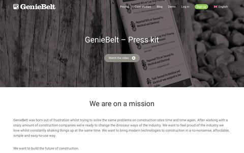 Screenshot of Press Page geniebelt.com - GenieBelt - Press - captured Dec. 22, 2017