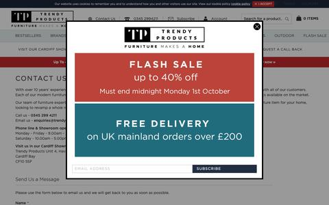 Screenshot of Contact Page trendy-products.co.uk - Contact Us | Trendy Products - captured Oct. 1, 2018