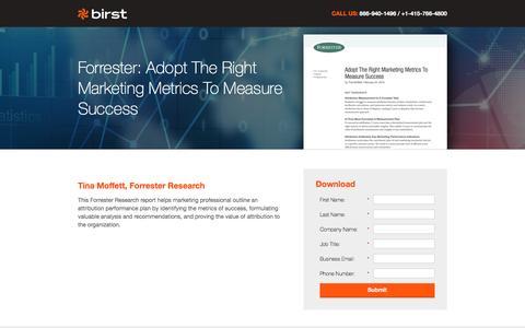 Screenshot of Landing Page birst.com captured Aug. 18, 2016