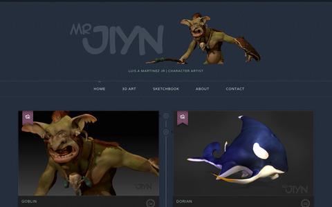 Screenshot of Home Page mrjiyn.com captured Oct. 7, 2014
