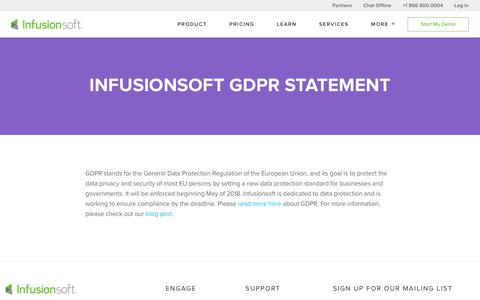 Infusionsoft GDPR Compliance