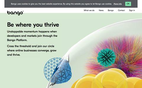 Screenshot of Home Page bango.com - Bango mobile commerce platform | Bango - captured Aug. 12, 2019