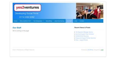 Screenshot of Case Studies Page yes2ventures.org.uk - Our Staff | Yes2Ventures - captured Oct. 9, 2014
