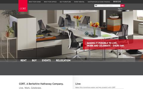 Screenshot of Home Page cort.com - Home and Office Furniture Rental   CORT Furniture - captured Sept. 24, 2014