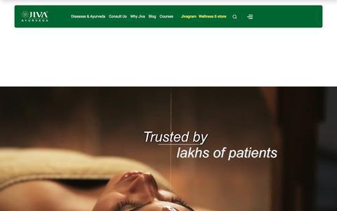 Screenshot of Home Page jiva.com - Ayurveda for Child Health Care : Ayurvedic Doctors, Medicine and Diet Chart - captured Feb. 5, 2020