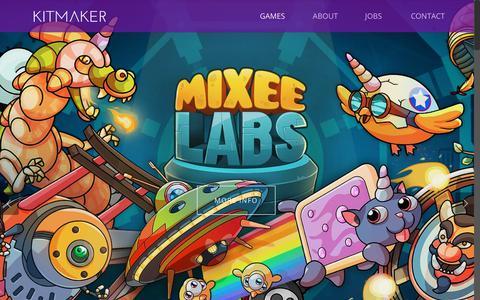 Screenshot of Home Page kitmaker.com - HOME   KITMAKER - captured Oct. 17, 2017