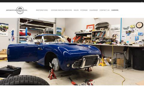 Screenshot of Jobs Page automotiverestorations.com - Careers — Automotive Restorations, Inc. - captured Oct. 4, 2018
