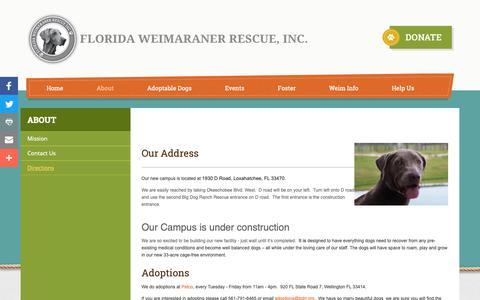 Screenshot of Maps & Directions Page flweimrescue.com - Directions   Florida Weimaraner Rescue - captured Oct. 24, 2018