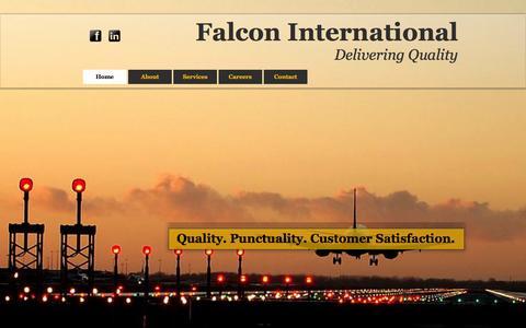 Screenshot of Home Page falconfzc.com - Falcon International FZC - captured Oct. 5, 2014