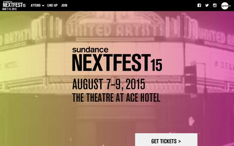 Screenshot of Signup Page sundance.org - Sundance Institute - captured Jan. 19, 2016