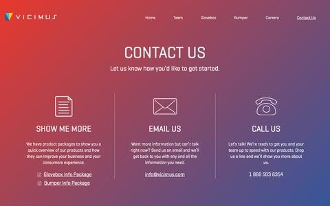 Screenshot of Contact Page vicimus.com - Contact  |  Vicimus - captured March 24, 2017