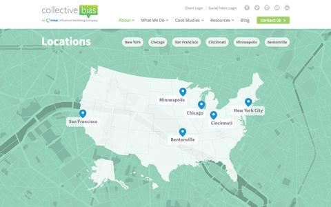 Screenshot of Locations Page collectivebias.com - Locations - Collective Bias - captured Dec. 27, 2017