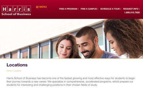 Screenshot of Locations Page harrisschool.edu - Locations | Harris School of Business - captured July 18, 2017
