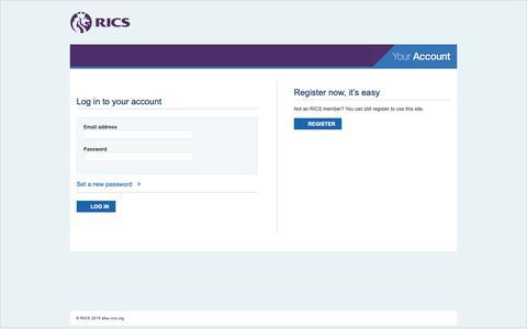 Screenshot of Login Page rics.org - Sign In - captured June 11, 2019