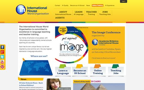 Screenshot of Terms Page ihworld.com - Learn a Language with International House - captured Sept. 24, 2014