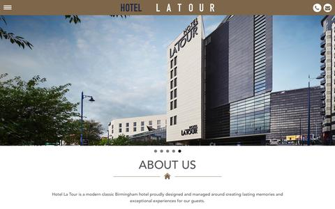 Screenshot of About Page hotel-latour.co.uk - About Us   Hotel La Tour - captured July 17, 2016