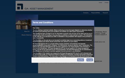 Screenshot of Home Page ga-group.nl - Global Arbitrage Group   - captured Jan. 23, 2016