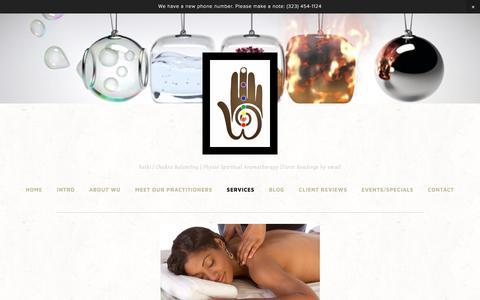 Screenshot of Services Page wellnessuprising.com - Chakra Aromatherapy — Wellness Uprising - captured Jan. 21, 2018