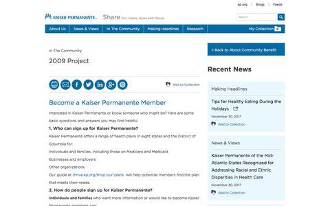 2009 Project - Kaiser Permanente Share