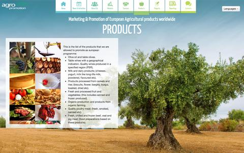 Screenshot of Products Page agropromotion.eu - Agropromotion - Products - captured July 23, 2016