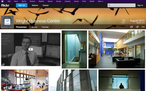 Screenshot of Flickr Page flickr.com - Flickr: Wright Business Centre's Photostream - captured Oct. 25, 2014