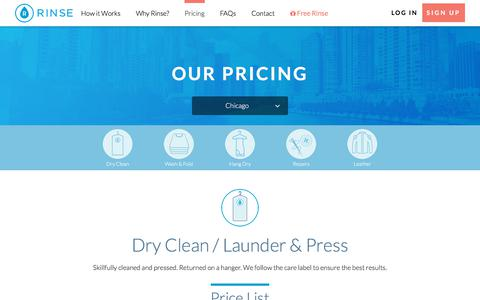 Screenshot of Pricing Page rinse.com - Rinse Pricing - captured June 22, 2018