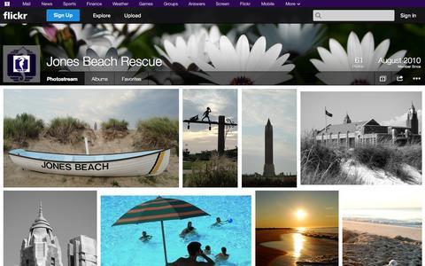 Screenshot of Flickr Page flickr.com - Flickr: Jones Beach Rescue's Photostream - captured Oct. 26, 2014