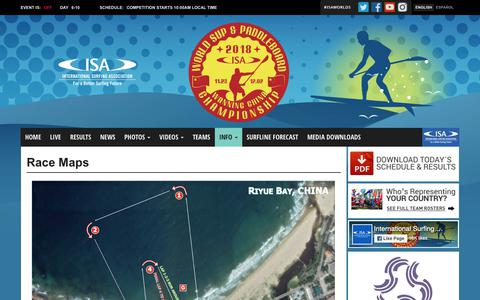 Screenshot of Maps & Directions Page isasurf.org - Race Maps - 2018 ISA World SUP & Paddleboard Championship - captured Nov. 28, 2018