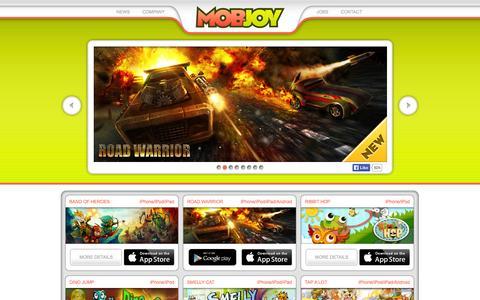 Screenshot of Home Page mobjoygames.com - MobJoy - captured Sept. 12, 2014