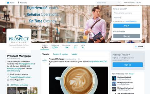 Prospect Mortgage (@myprospectmtg) | Twitter