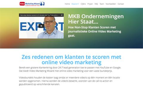 Screenshot of Home Page video-marketing-wizard.nl - Klanten scoren met Video Marketing Wizard en YouTube - captured Jan. 27, 2015
