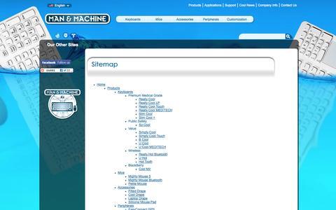 Screenshot of Site Map Page man-machine.com - Sitemap :: Man & Machine - captured Oct. 3, 2014