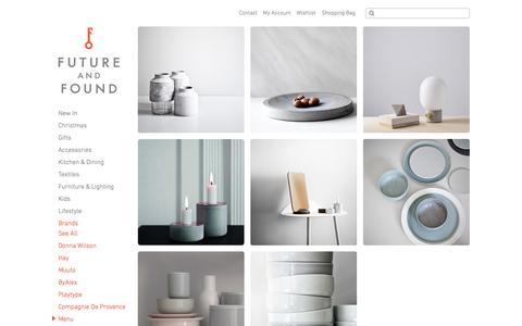 Screenshot of Menu Page futureandfound.com - menu - captured Nov. 18, 2015