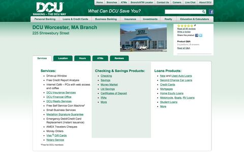 DCU Branch Location at 225 Shrewsbury St., Worcester, MA