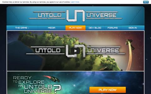 Screenshot of Home Page untold-universe.com - Untold Universe | A MMORPG about space and cubes! - captured Jan. 24, 2015