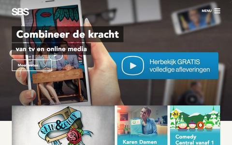 Screenshot of Home Page sbsbelgium.be - SBS Belgium - captured Dec. 18, 2015